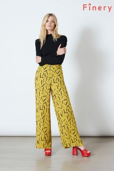 Finery London Yellow Ashbridge Trousers