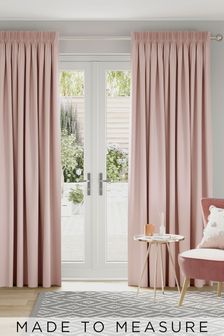 Cotton Dusky Pink Made To Measure Curtains