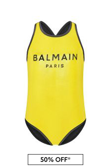 Balmain Girls Gold Swimsuit