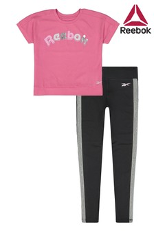 Reebok Little Kids Pink T-Shirt And Legging Set