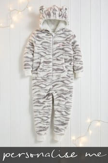 Personalised Snow Tiger All-In-One