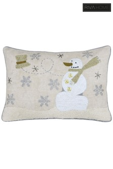 Advent Snowman Cushion by Riva Home