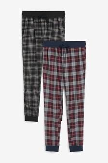 Cuffed Cosy Pyjama Bottoms Two Pack