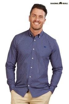 Raging Bull Blue Multi Circle Print Shirt