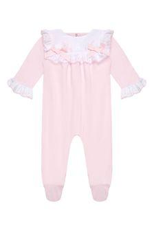 Patachou Baby Girls Pink Cotton Babygrow