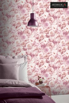 Arthouse Pink Wild Rose Floral Wallpaper