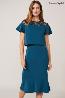 Phase Eight Blue Haidee Double Layer Dress