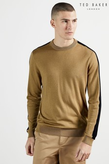 Ted Baker Karmel Crew Neck Sweater With Overarm Stripe