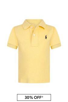 Ralph Lauren Kids Baby Boys Yellow Cotton Poloshirt