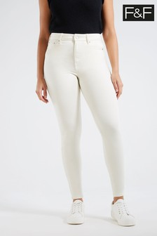 F&F Ecru Contour Jeans