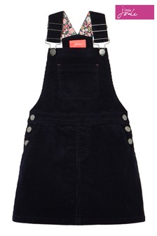 Joules Blue Kimberly Cord Dungaree Dress