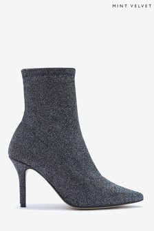 Mint Velvet Venus Metallic Sock Boots