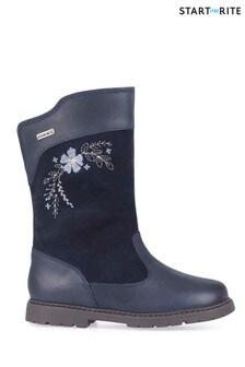 Start-Rite Splash Navy/Leather Suede Waterproof Boots