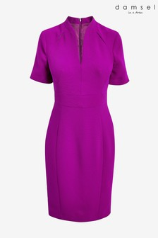 Damsel In A Dress Purple Isabella Colour Split Dress