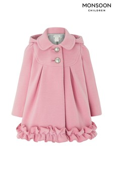 Monsoon Baby Renee Ruffle Coat