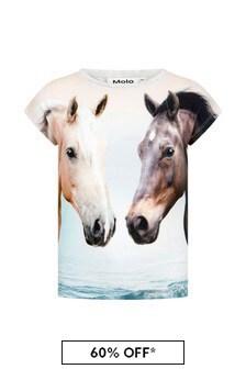 Molo Girls Cream Cotton T-Shirt