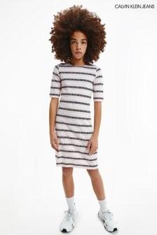 Calvin Klein Jeans Black Logo Bodycon Dress