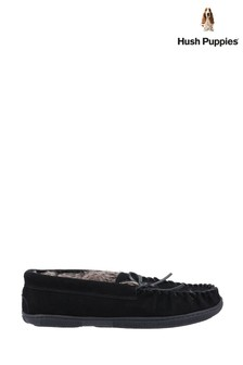 Hush Puppies Black Ace Slippers