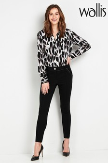 Wallis Tall Black Ponte Trousers
