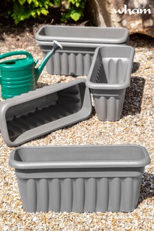 Set of 5 Vista 60cm Garden Troughs by Wham