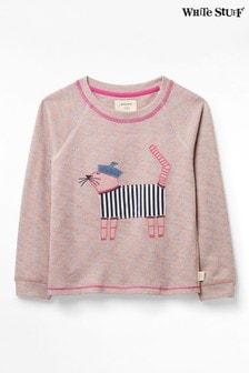 White Stuff Pink Kids Winston Jersey Sweat Top