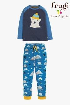 Мягкая пижама из органического хлопка с топом и брюками с манжетами Frugi
