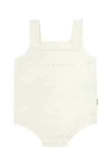 Baby Girls Cream Cotton Bodysuit