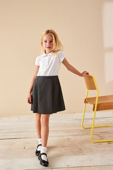 2-In-1 Short Sleeve Pinafore Dress (3-14yrs)