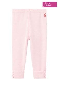 Joules Pink Lula Rib Leggings