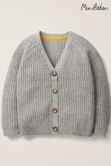 Boden Grey Chunky Knit Cardigan