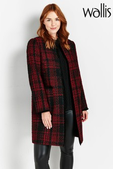 Wallis Red Check Coat