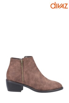 Divaz Tan Ruby Ankle Boots