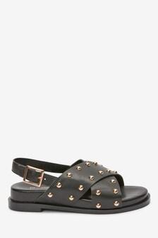 Studded Cross Strap Sandals (Older)