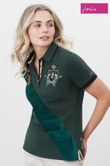 Joules Beaufort Luxe Embroidered Polo Shirt