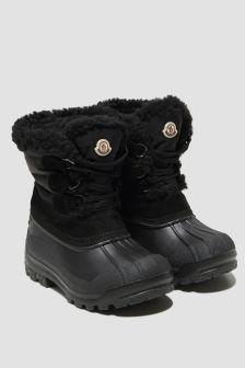 Moncler Enfant Boys Black Suede & Nylon Boots