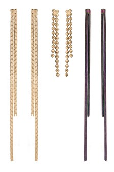 Oliver Bonas Dealla Multi Chain Drop Earrings