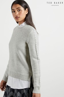 Ted Baker Teaggan Frill Detail Mockable Sweater