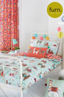 Little Furn Llamarama Duvet Cover and Pillowcase Set by Furn