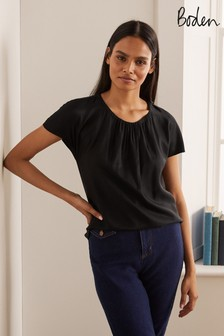 Boden Black Florence Top