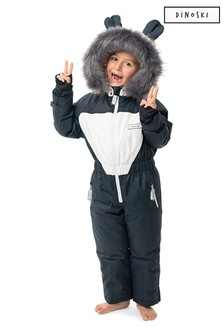 Dinoski Black Patch Panda Ski Suit