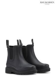 Ilse Jacobson Black Short Rub Boots