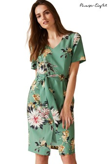 Phase Eight Green Deborah Floral Dress