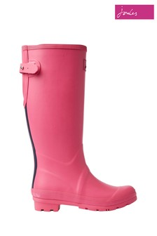 Joules Pink Field Welly Matt With Adjustable Back Gusset