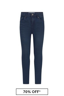 Levis Kidswear Boys Dark Blue Cotton Blend Jeans