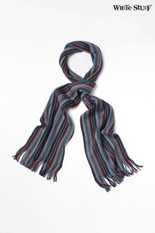 White Stuff Blue Vertical Stripe Scarf