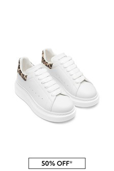 Alexander Mcqueen Girls Animal Print 100% Leather Trainers