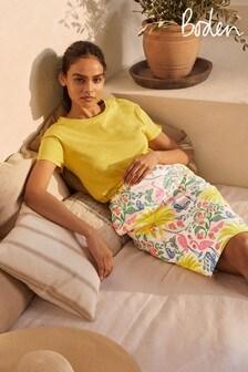 Boden Yellow Gabriella Pencil Skirt