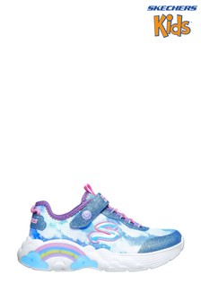 Skechers® Blue Rainbow Racer Trainers