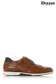 Dune London Brawl Tan Leather Lace-Up Brogue Shoes