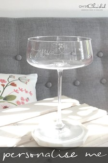 Personalised Coupe Champagne Glass by Oh So Cherished